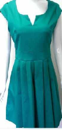 Green with cap sleeves S12